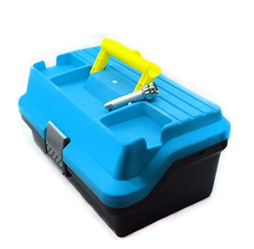 RongWang Caja Impermeable De 3 Capas para Aparejos De Pesca, Caja De Almacenamiento para Pesca con Mosca, Equipo De Pesca Portátil, Caja De Almacenamiento Resistente A La Corrosión Fuerte