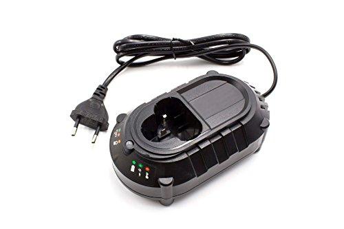 vhbw 220V Akku-Ladegerät Typ 2 passend für Werkzeug, Power Tool Makita Baustellenradio DMR103, DMR103B, DMR105, DMR106, DMR106B, DMR107, DMR108