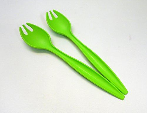TW TUPPERWARE Allegra Salatbesteck grün Salat Besteck