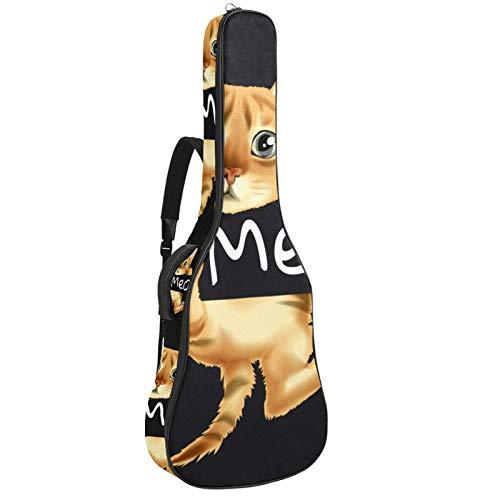 Bennigiry Hi Meow - Bolsa de guitarra con gato para colgar guitarras acústicas para guitarrista