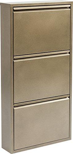 Kare Design Scarpiera a 3 Lembi Carusa, 103 x 50 x 14 cm, Bronzo