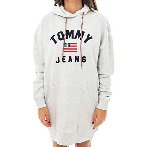Tommy Hilfiger Vestito Donna TJW Logo Hoodie Dress DW0DW07233.PPP