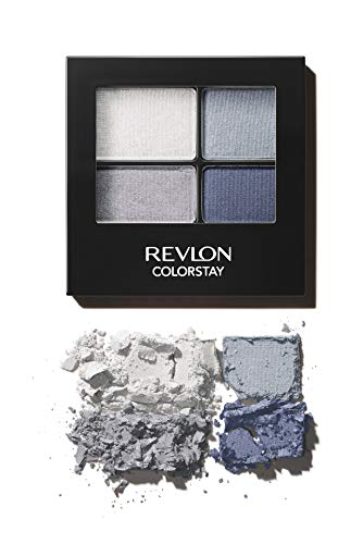 Revlon ColorStay 16 Hour Eyeshadow Quad with Dual-Ended Applicator Brush, Longwear, Intense Color Smooth Eye Makeup for Day & Night, Passionate (528), 0.16 oz