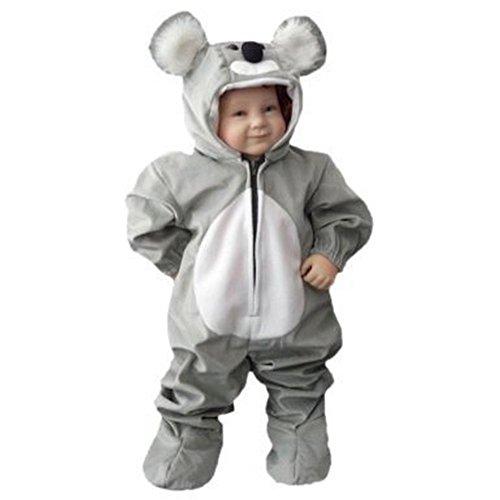 Koala-Bär Kostüm, J42 Gr. 92-98, für Klein-Kinder, Babies, Koala-Kostüme Koalas Kinder-Kostüme Fasching Karneval, Kinder-Karnevalskostüme, Kinder-Faschingskostüme, Geburtstags-Geschenk
