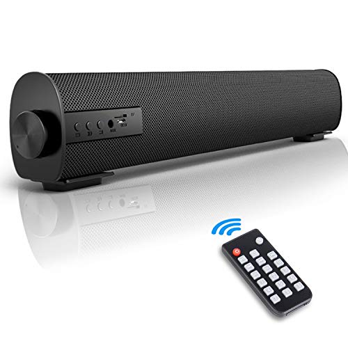 Fityou Computer Speaker, Soundbar for TV/PC, Wired & Wireless Bluetooth Speaker with The Remote Control, 2 X 5W Mini Home Theater Sound bar with Built-in Subwoofers