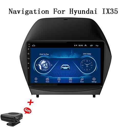 XBRMMM Android 8.1 9-Zoll-Autoradio Für 2010-2017 Hyundai IX35 GPS-Navigations-Multimedia-Player Mit USB Bluetooth, AM FM RDS-Autoradio, GPS-Fahrzeugnavigation Für Auto, Autosysteme