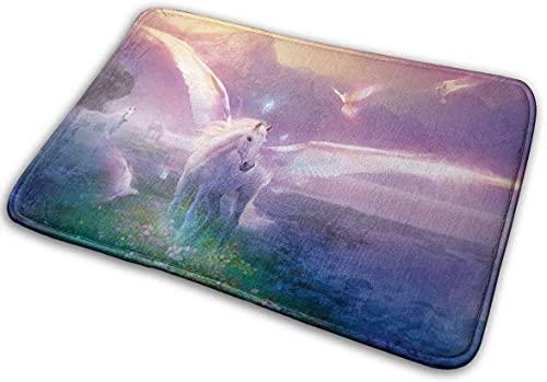 Alfombra mágica de Caballo de 40x60 cm, Alfombrilla de baño Antideslizante, Alfombra de Bienvenida, Felpudo para la Entrada al Aire Libre, decoración del Suelo del hogar
