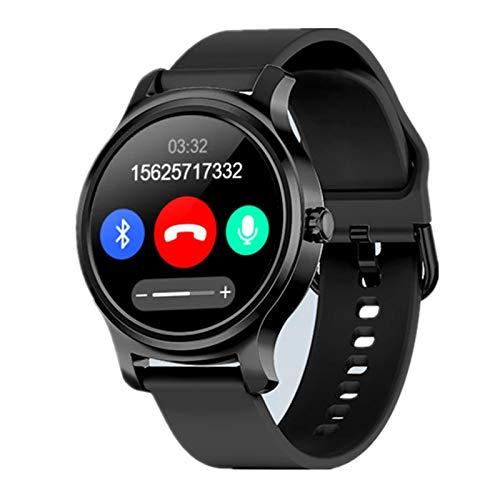 JXFF R2 Smart Watch M1.3 Pantalla Touchable, Reloj De Pareja De Mujeres para Hombre Bluetooth, Tipo De Corazón Spygmomanometer Sportswatch Smartwatch Disponible para Android iOS,E