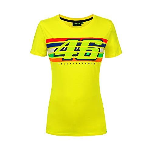 Valentino Rossi Damen Streifen Top XL gelb
