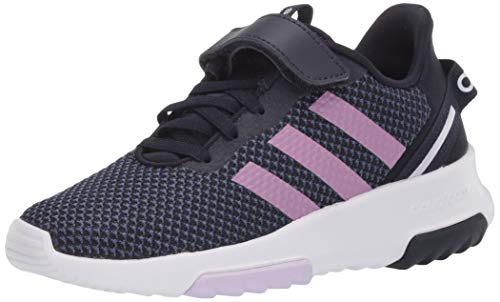 adidas baby boys Racer Tr 2.0 Running Shoe, Ink/Copper/Pink Tint, 12 Little Kid US