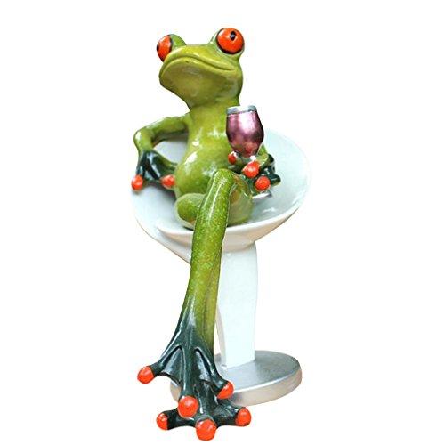 Homyl Kreative Frosch Dekofiguren Deko Figur Statue Skulptur für Büro Haus Dekoration - in bar