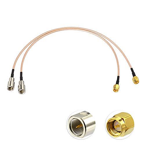 Eightwood 4G LTE Antena FME SMA Cable Adaptador RG316 30 cm 2 unids para 4G LTE Antena 4G DTV Industrial 4G Router WiFi Enrutador móvil Hotspot Sistema de Refuerzo del teléfono Celular