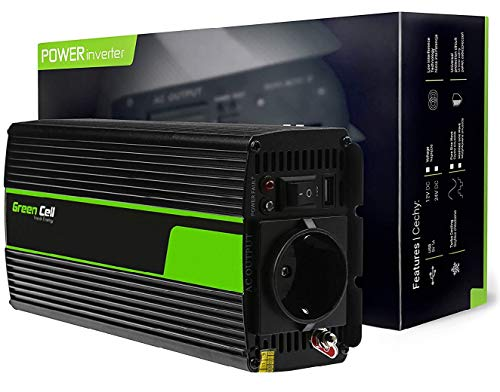 Green Cell® 300W/600W Pur Sinus Convertisseur de Tension DC 12V AC 230V Power Inverter...