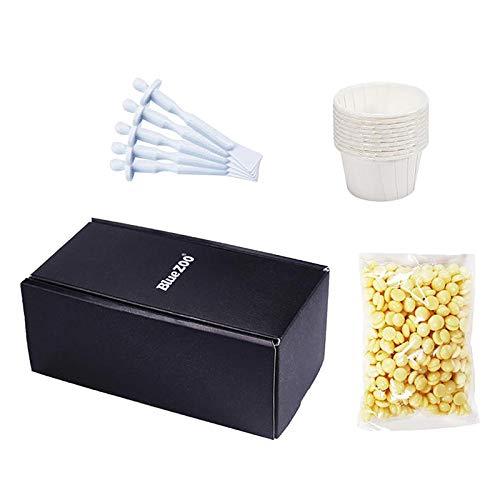 F Fityle Kit de Depilación de Nariz de Frijoles de Cera Depilatoria Facial Unisex 50g 5 Aplicadores 10 Tazones de Papel Desechables para Hombres Y Mujeres