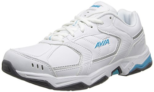 Avia Women's Tangent-W, White/Detox Blue/Chrome Silver, 10.5...