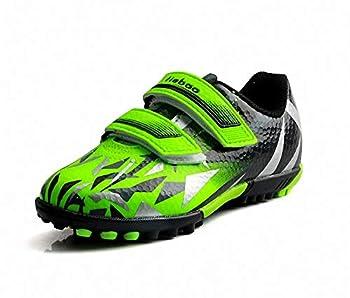 T&B Toddler Turf Soccer Shoes Indoor Football Futsal Shoes Boys Girls Back/Green C76516-Lv-26-9US