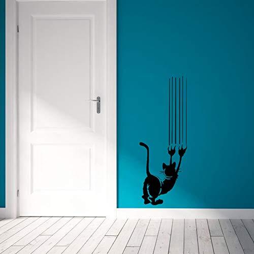 SYQH Katzenpfote Druckt Wandaufkleber Tür/Wand Dekoration Wohnzimmer Hintergrund Wandtattoo Abnehmbare Aufkleber,A1