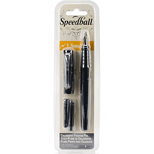 Speedball 002901 Calligraphy Fountain Pen 1.5mm - Fountain Pen - 1.5mm - Black Ink