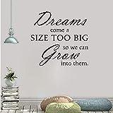 Calcomanía de pared de vinilo removible para pared Dream Comes One Kind to the Wall Lettering Words 56X56Cm