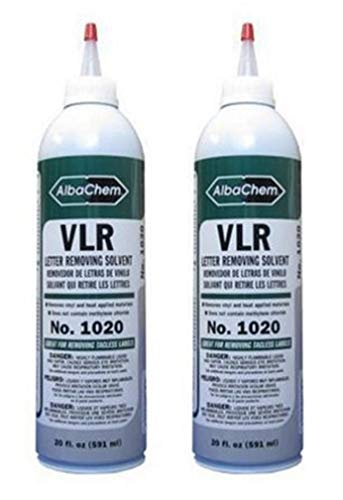 Heat Transfer Vinyl Remover for Fabrics and T-Shirts - 20oz Bottle (2 Pack)