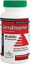 Serra Enzyme 80,000IU SERRAPEPTASE (90 QUAD-STRENGHT CAPSULES) **Delayed Release Bioactive Enzymes***