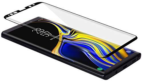 StilGut Schutzfolie aus Glas für Samsung Galaxy Note 9, Full-Cover, schwarzer Rand