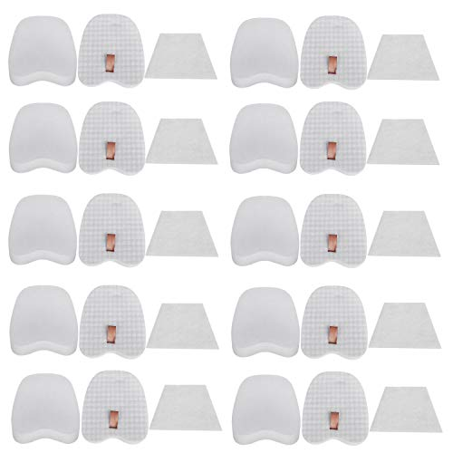 Lxiyu 10-Pack Filters Replacement for Shark Rocket Filter DuoClean Zero-M Ultra-Light Corded Stick Vacuum HV345 ZS350 ZS350C ZS351 ZS351C ZS352 ZS360 ZS361C ZS362, Compare to Part XPMFK320&XPSTFH380