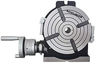 Accusize Industrial Tools 8'' Horizontal/Vertical Precision Rotary Table, 5817-4008