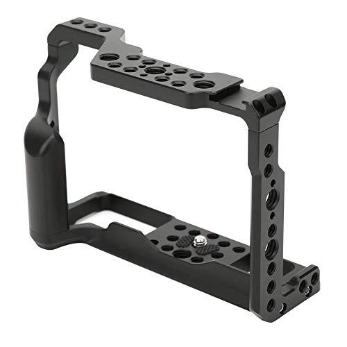 DSLR Rig Cage para Fuji XT2 XT3 Marco estabilizador de Jaula Protectora de aleación de Aluminio con Orificio para Tornillos de 1/4 3/8 y Soporte de Zapata fría para micrófono, luz LED