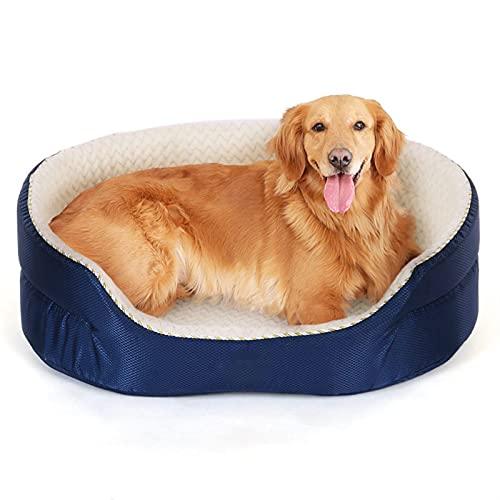 SHUBIAO Cama Grande para Perros para Perros Grandes Gatos de hasta 75 Libras - Camas de Perro Grandes ortopédicas con Tapa Lavable extraíble, cajón de Huevo Espuma Motici
