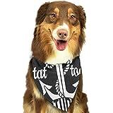 Yutess Halstuch-Set für kleine bis große Hunde, Katzen, selbstgemachtes Tattoo-Design