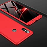 GKK (#52) PC 360 Degrees Full Coverage Case for Compatible with : Xiaomi Mi Mix 2S(Red)