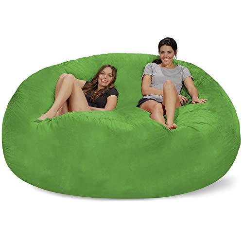 Chill Bag - Bean Bags Chill Sack Bean Bag Chair: Giant Memory Foam Furniture Bean Bag - Big Sofa with Soft Micro Fiber Cover, 8', Charcoal