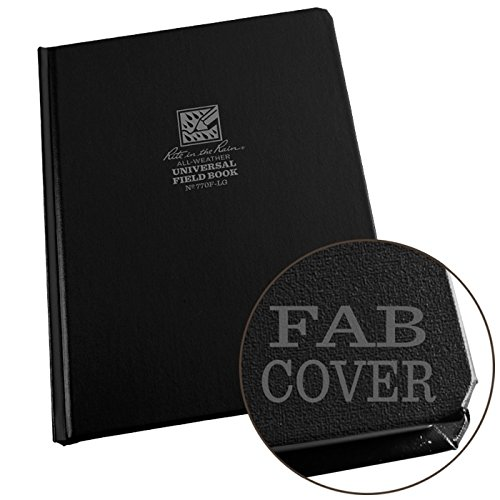 "Rite in the Rain Weatherproof Hard Cover Notebook, 6 3/4"" x 8 3/4"