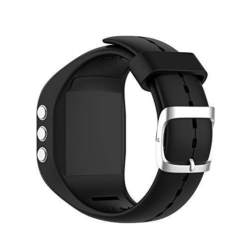 KINOEHOO Correas para relojes Compatible con Polar A300 Pulseras de repuesto.Correas para relojesde siliCompatible cona.(negro)