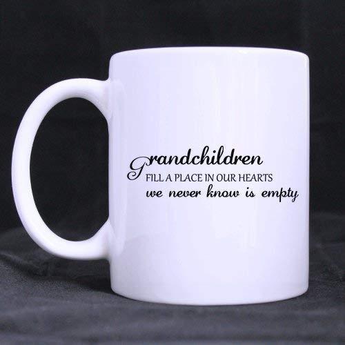 Sterke stabiliteit duurzame koffiemok grootvaders/grootmoeders/opa/oma geschenken/cadeautjes kleinkinderen vullen een plaats in onze harten we nooit weten is leeg thee/koffie/wijn Cup 100% Ceram