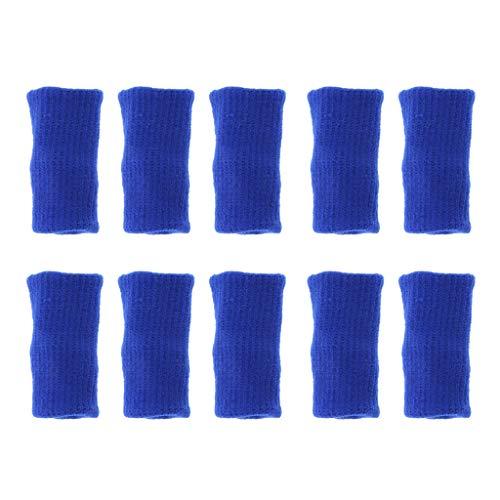 SDENSHI 10 Pezzi Manicotti per Le Dita, Supporto per Stecca per Il Pollice per Artrite, Traspirante - Blu, 4.5 x 3.5 x 3 cm