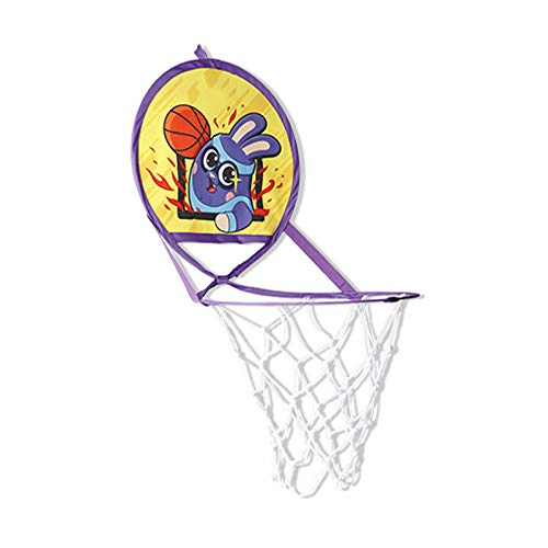 Aro De Baloncesto Plegable Sin Perforaciones, Tableros De Tiro, Canastas De Juguetes para El Hogar, Soportes De Baloncesto para Interiores, Regalos De Cumpleaños para Niños,Amarillo