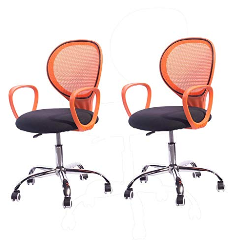 2 Sets Home Office Desk Chair Ergonomic Mesh High Back with Armrest Seat Height Tilt Tension Lumbar Support Spine Protection (Color : C)