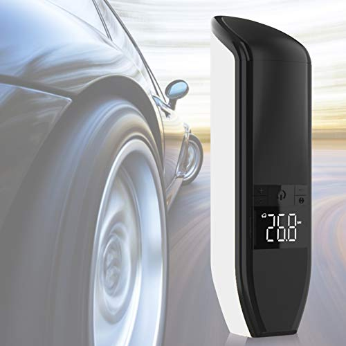 Bomba de aire, compresor de aire portátil duradero para automóvil, pantalla digital LCD de 3 colores Inflado opcional de bicicletas para medir la presión de los neumáticos(blanco)