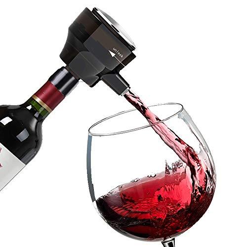 MMFXUE Aeratore per Vino Elettrico, versatore Automatico per Vino, Decanter per Vino istantaneo, ossidatore per Vino One-Touch con Tubo Retrattile, distributore di Vino Elettrico