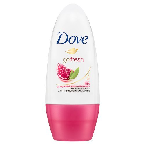 Dove Go Fresh granada Antitranspirante Desodorante Roll-On 50 ml - Envase de 6