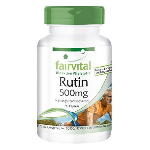 Rutin 500mg - Bulk Pack for 3 Months - Vegan - HIGH Dosage - 90 Capsules - standardised to 95% Rutin