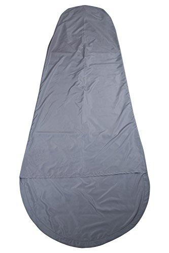 Mountain Warehouse Drap de Sac de Couchage Forme Momie en Microfibre -Drap de Voyage Facile à Transporter, hygiénique, Confortable -Parfait pour Le Camping en extérieur Gris Clair Taille Unique