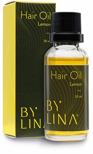 BYLINA Haaröl ohne Silikon und Parabene - aus kaltgepressten Bio Ölen, Arganöl, Jojobaöl, Mandelöl & Brokkolisamen-Öl für kaputtes und trockenes Haar (Lemon)