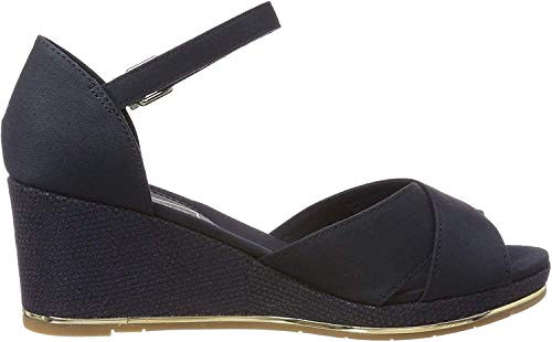 Tommy Hilfiger Basic Damessandalen voor Mid Wedge