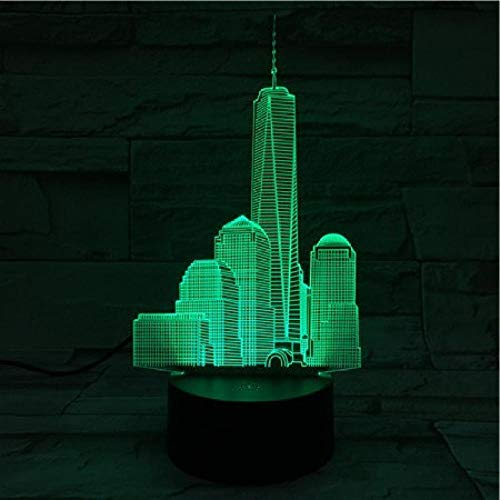 Luz nocturna 3D Famoso Edificio Empire State Building Lámpara de mesa-1_Empire State Building