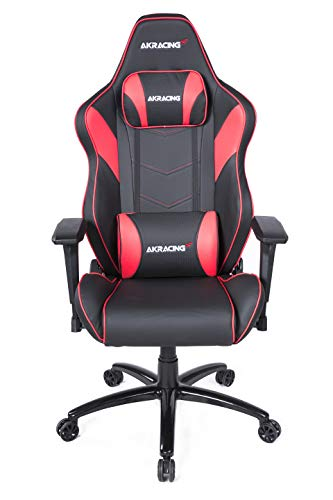 AKRACING Chair Core LX Plus Gaming Stuhl, PU-Kunstleder, Schwarz/Rot, One Size