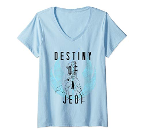 Womens Star Wars: The Rise Of Skywalker Rey Destiny Of A Jedi V-Neck T-Shirt