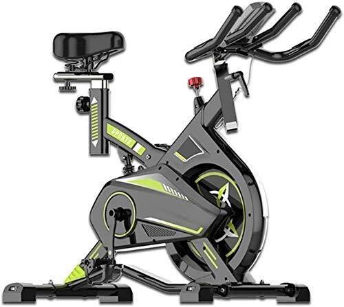 KANJJ-YU Bicicleta de ejercicio de ciclismo indoor, LCD de visualización electrónica Lee calorías del ritmo cardíaco del sensor etc, manillar ajustable asiento Resistencia, Rotar electromagnética bici